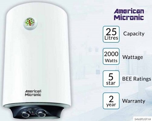 American Micronic AMI WHM3 25-Litre Water Heater