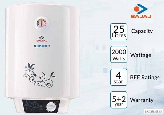 Bajaj New Shakti GL 25-Litre Water Heater