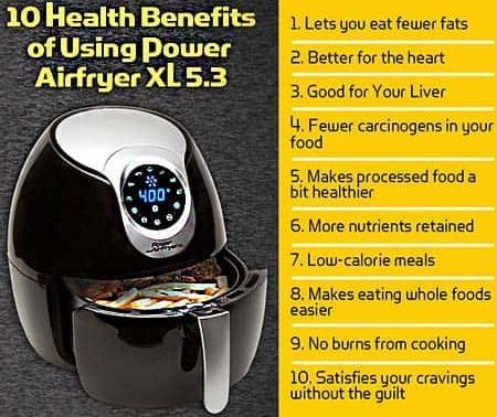 Health benefits of air fryer