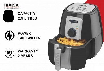 Inalsa Air Fryer 2.9 L Fry Light with 1400-Watt