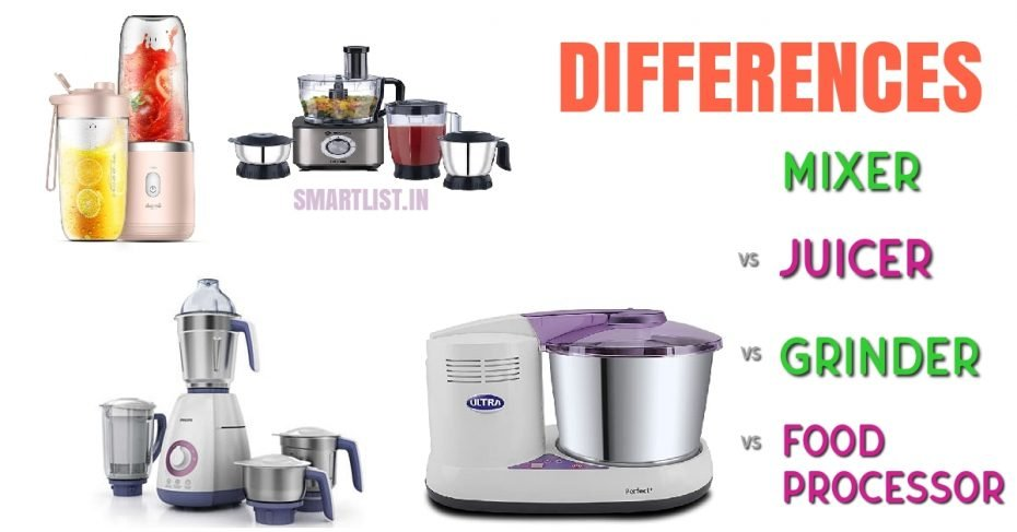 Difference Among Different Food Appliances