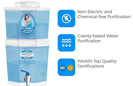 KENT 10-Litres Gravity Based Non-electric Water Purifier