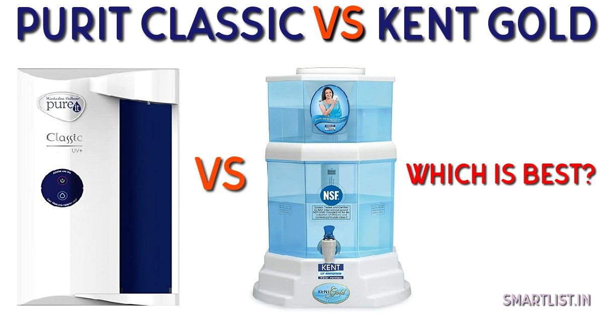 Pureit Classic Vs Kent Gold: Which one is Better?