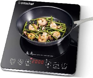 Single-element induction cooktop