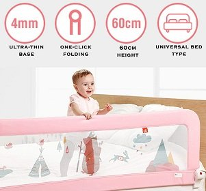 Baybee Bed Rail Guard for Baby Safety-Portable and Foldable
