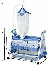 Comfort Store Crib Mosquito Net with Swing and Multiple Functions