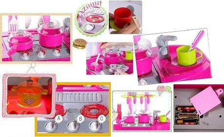 Jvm Big Size 87 cm Luxury Battery Operated Kitchen Play Set