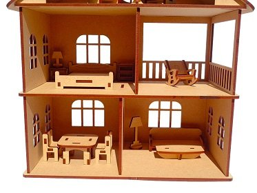 NEKBAL Wooden Doll House