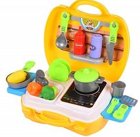 Smartcraft Ultimate Kid Chef Bring Along Kitchen Cooking Suitcase Set