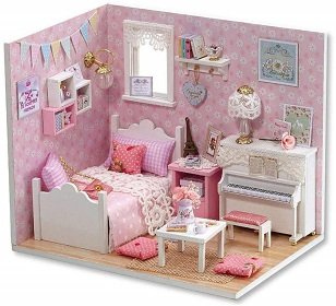 Webby Miniature Princess Bedroom Dollhouse