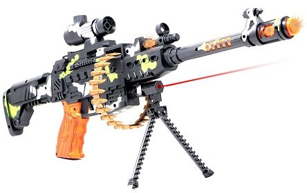 Zest 4 Toyz 25″ Musical Army Style Toy Gun For Kids