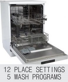 Elica 12 Place Settings WQP 12 – 7605V Dishwasher